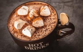 Обои напиток, корица, кофе, шоколад, какао