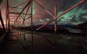 Картинка небо, ночь, мост