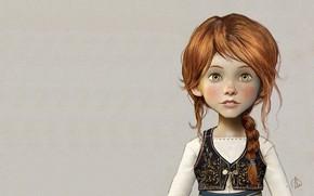 Картинка арт, девочка, иллюстрация, портерет, Character design for the CG ANIMATION Ballerina, Jean-Baptiste Monge, Felicie
