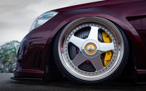 Обои W212, 20-inch OZ Racing Futura wheels, yellow 6-pot Brembo calipers, колесо, нос, Mercedes - Benz