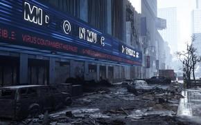 Картинка город, улица, разруха, Tom Clancy's, The Division