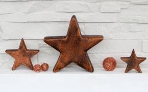 Картинка Новый Год, Рождество, wood, stars, merry christmas, decoration, xmas, holiday celebration