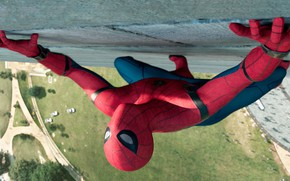 Картинка Стена, Костюм, Актер, Герой, Кино, Маска, Супергерой, Hero, Фильм, Wall, Фантастика, Marvel, Spider-man, Человек-паук, Comics, …