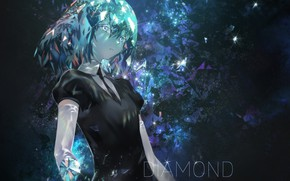 Картинка девушка, diamond, Azomo