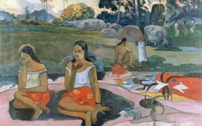Картинка картина, жанровая, Поль Гоген, Eugene Henri Paul Gauguin, Весна Священная