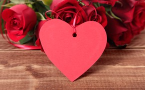 Картинка цветы, праздник, сердце, розы, день Святого Валентина