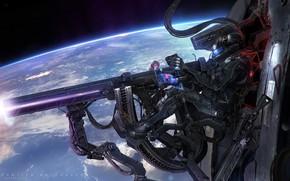 Картинка планета, стрелок, Frontier Buccaneers, Orbital Hunt
