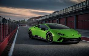 Картинка green, Lamborghini, Huracan, Huracan Performante, Lamborghini Huracan Performante