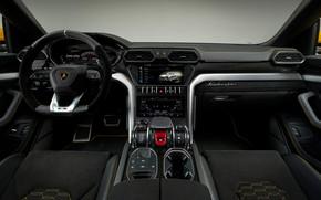Обои Lamborghini, салон, 2018, Urus