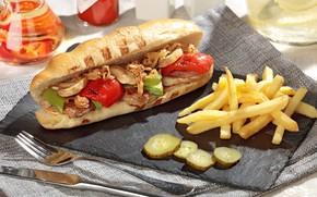 Картинка овощи, сэндвич, картофель