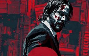 Картинка cinema, gun, blood, weapon, man, movie, film, rifle, Keanu Reeves, powerful, strong, John Wick, John …
