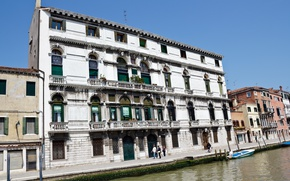Картинка Канал, Италия, Венеция, Здания, Italy, Venice, Italia, Venezia, Buildings, Canal