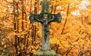Картинка фон, крест, кладбище