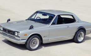 Картинка Авто, Машина, Серый, Ниссан, Nissan, Автомобиль, 2000, Skyline, Nissan Skyline, 2000GT, Японец, 2000GT-R, 2000 GT, …