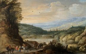 Картинка дерево, масло, картина, Пейзаж, Йоос де Момпер