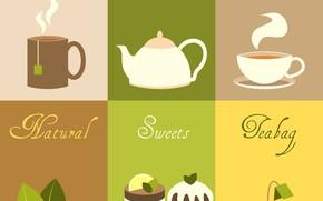 Картинка фон, чай, текстура, десерт