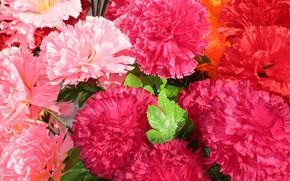 Картинка гвоздики, апрель, искуственные цветы, весна 2018, mamala ©