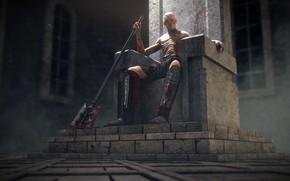Картинка урод, трон, Zombie Lord