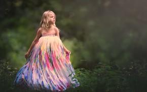 Картинка природа, фон, девочка