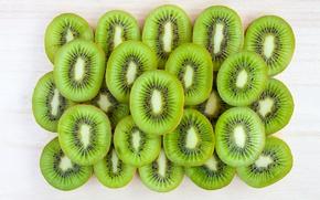 Картинка зеленый, еда, киви, фрукты, ломтики