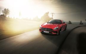 Картинка Mercedes, red, AMG, GTS