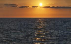 Картинка море, небо, рассвет