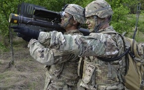 Картинка soldier, military, weapon, army, helmet, seifuku, camouflage, Stinger, kabuto