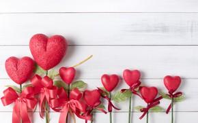 Картинка любовь, сердце, сердечки, red, love, бант, heart, wood, romantic, valentine's day