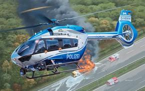 Картинка Police, Airbus, многоцелевой вертолёт, polizei, H145