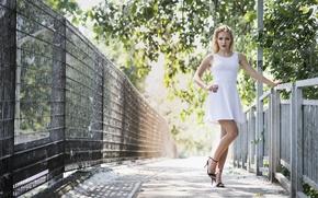 Картинка лето, модель, платье, ножки, красотка, Asha
