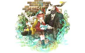 Обои Невеста чародея, романтика, аниме, Mahou Tsukai no Yome, арт