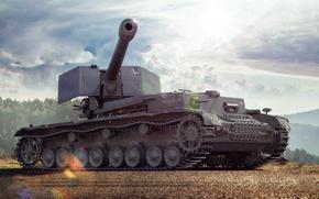 Картинка World of Tanks, Waffenträger auf Pz. IV, Немецкая ПТ-САУ