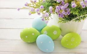 Обои Пасха, flowers, spring, Easter, eggs