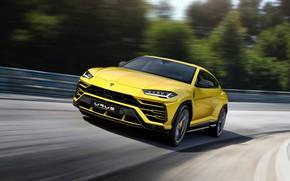 Обои 2018, Urus, Lamborghini, скорость