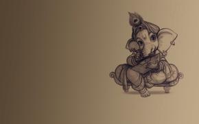 Картинка фон, слон, учение, Ганеш