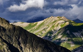 Картинка облака, горы, Франция, Национальный парк, Экреен