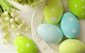 Картинка яйца, весна, colorful, Пасха, happy, wood, spring, Easter, eggs, holiday