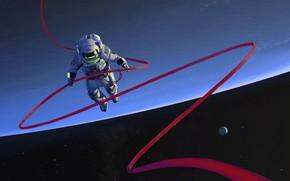 Картинка space, fantasy, stars, cosmos, planet, digital art, artwork, fantasy art, helmet, space suit, Astronaut, space ...