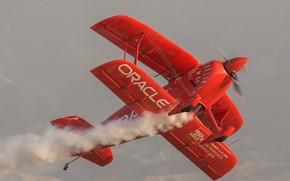 Обои полет, биплан, самолет