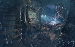 Картинка пузыри, шлем, Unlock, затопление, cabine Nemo