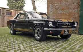 Картинка ретро, Ford Mustang, классика