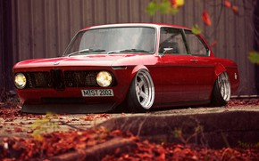 Картинка Красный, Авто, BMW, Машина, Автомобиль, Рендеринг, 02 Series, Stance Works, Немец, MST2002, M-ST2002, BMW 02 …