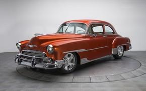 Обои купе, Deluxe, Styleline, Chevrolet, 1951, ретро