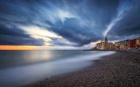 Картинка море, пейзаж, берег, Италия, Камольи, Лигурийское побережье