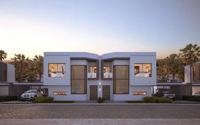 Картинка дизайн, строение, France, симметрия, Modern Villa