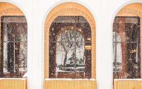 Картинка зима, белый, снег, фото, фотография, окна, минимализм, бар, выстрел, minimal, фотограф, кафе, ресторан, white, архитектура, …