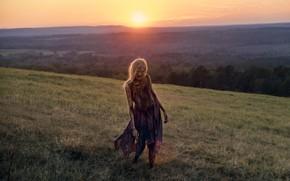 Картинка солнце, пейзаж, рассвет, зомби, The Walking Dead, Season 8, Episode 16