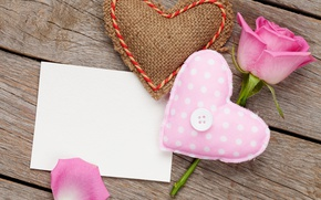 Картинка роза, love, rose, heart, pink, romantic, sweet, gift, petals, valentine`s day