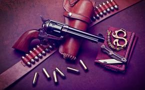 Обои патроны, револьвер, кольт