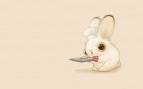 Картинка кролик, арт, повар, зайчик, пушистик, печеньки, детская, sydney hanson